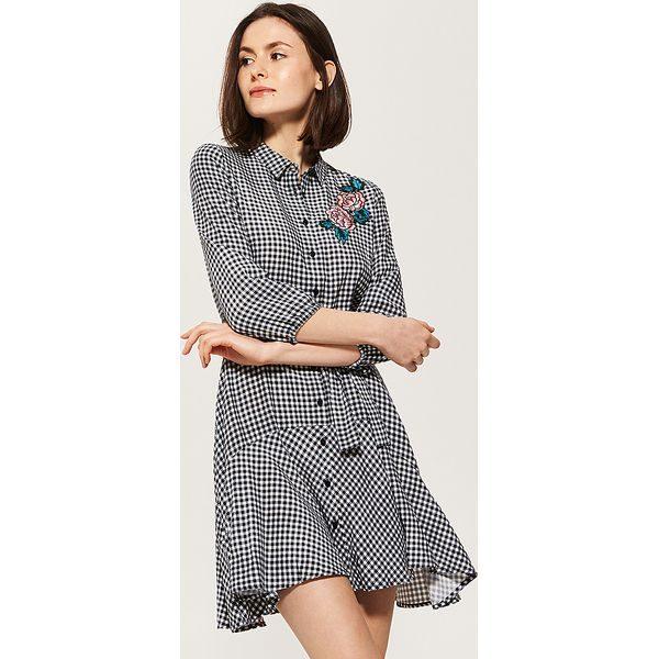 42568a0df2 Koszulowa sukienka w kratkę vichy - Czarny - Sukienki marki House. W ...