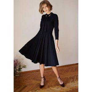 8cbdd076b4 Koszulowa sukienka w kratkę vichy - Czarny - Sukienki marki House. W ...