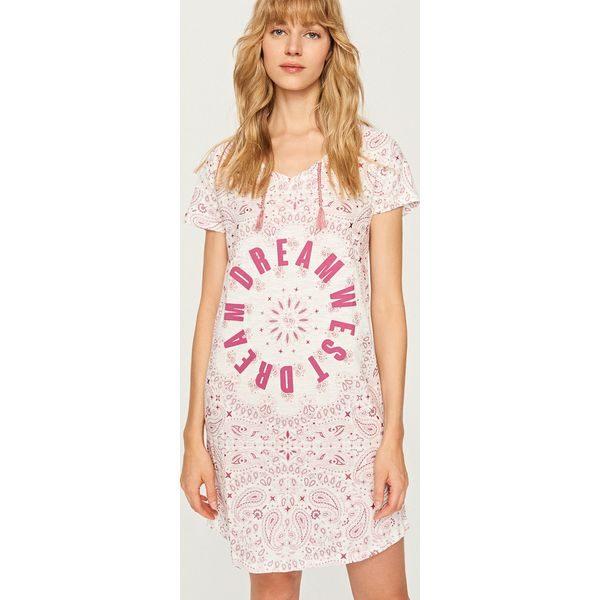 3ada4f3c8635c9 Koszula nocna z nadrukiem - Różowy - Koszule nocne marki Reserved. W ...