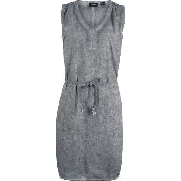 d2b9dc67e9 Sukienka z efektem wytarcia bonprix dymny szary